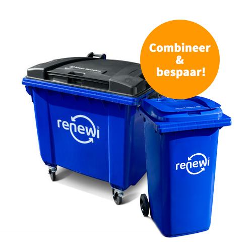 1100 liter rolcontainer voor restafval
