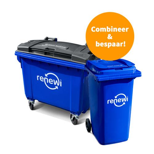660 liter rolcontainer voor restafval