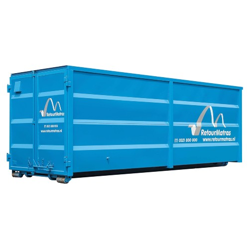 40 m³ afzetcontainer voor matrassen